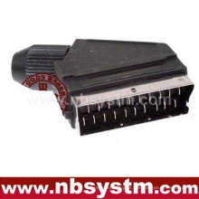 21 pinos Scart plug male / welder type for DIY