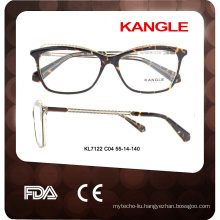 2017 Fashion tortoise eye combination spectacle optical frame