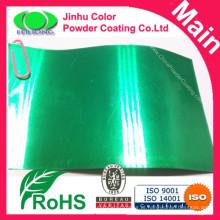 Revestimento em pó verde transparente altamente protector