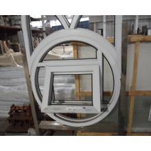 Modern pvc frame round window round opening window jalousie glass window