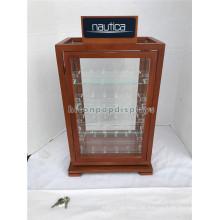 Holz 4 Regale Uhren und Schmuck Einzelhandel Store Showcase kommerziellen Verkauf Plexi Glas Vitrine