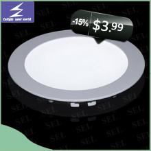 3W 6W 9W Slim LED Panel Light No Darkness