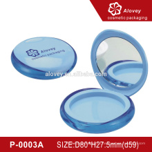 Shiny Round Empty Wholesale Compact Powder Packaging