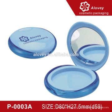 Блестящая круглая пустая оптовая компактная порошковая упаковка
