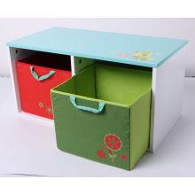 Abastecimento de Fábrica de Madeira de Brinquedo de Armazenamento de Container de Madeira com Gaveta de Tecido Kids Furniture