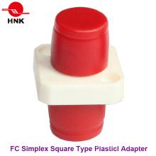 FC Simplex Tipo cuadrado adaptador de fibra óptica de plástico