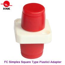 FC Simplex Square Type Plastic Fiber Optic Adapter