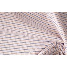 Оранжевый/флот тонкие небольшие проверяет, окрашенная пряжа, ткани рубашек