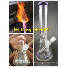 New Fashion Glass Design Glass Beaker with Stem Ice Notches Percolator Perc Glass Smoking Pipe Hitman Oil Rig Wholesale