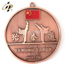 Productos promocionales medalla de encargo del recuerdo del deporte del metal de Taekwondo