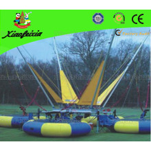 Four Person Bungee Trampoline with Banner