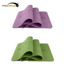 Esteira dobrável high-density colorida da ioga do TPE do deslizamento não