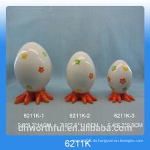 Blumen-Design Ei-Form Keramik-Pfeffer & Salz-Shaker