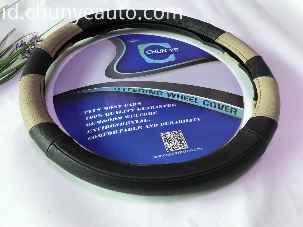 genuine leather truck steering wheel cover