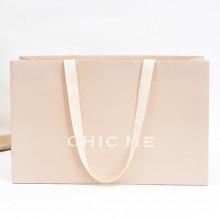 Pink Color Print Coated Gift Paper Bag