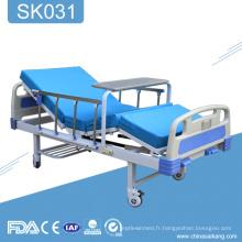 SK031 Hôpital 2 manivelle manuel patient lit à vendre