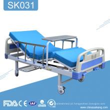 Cama paciente manual aluída do hospital 2 do hospital SK031 para a venda