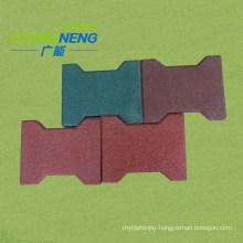 Dog-Bone Shape Horseyard Rubber Tiles, Garden Rubber Tiles