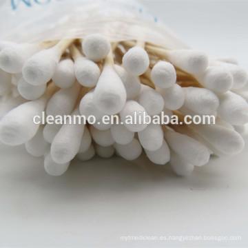 (caliente) encerado / limpieza cosmética hisopos de algodón / brotes con dos lados terminaron 3 ''