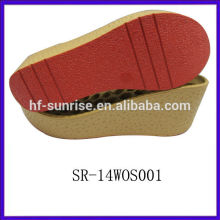 SR-14WOS001 ladies sandals pu sole italian pu sole ladies pu sole wedge shoes pu outsole