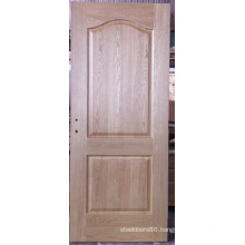 2 Panel Unfinished Arc-Shaped Oak Veneered Moulded Door, Interior Doors
