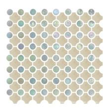 Имитация Кожаная плитка, Керамическая мозаика, Круглые мозаики
