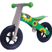 "10 ""Wooden Bike Sonnenblume Kinder Reiter Baby Bicycly / Scooter"