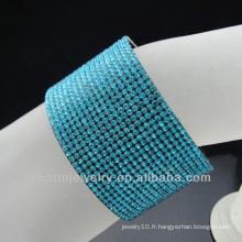 Hot Sale Magnet Buckle 18 Rows Rhinestones Bracelets