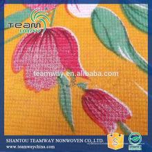 Tecido impresso de colchão Stitchbond fabricado por TEAMWAY