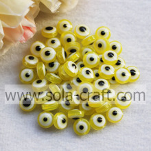 Loose Yellow Resin Crystal Curtain Necklace Designs African Jewelry Set Evil Eye Beads
