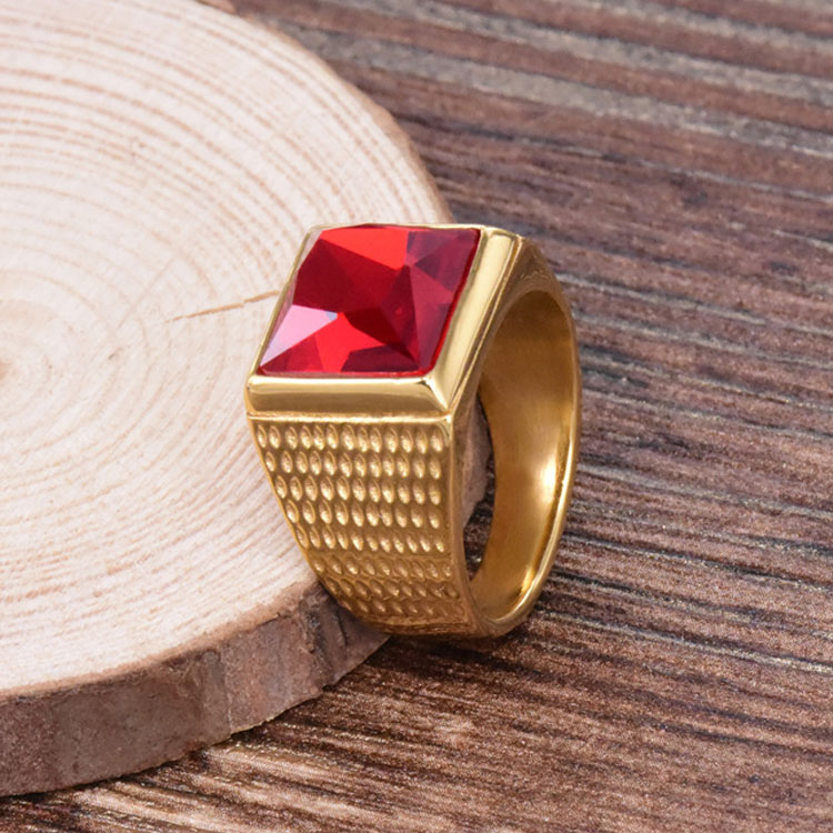 Ring With Red Stone