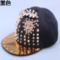 Custom new handmade skull hiphop punk cap rap dancer snapback hat