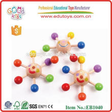 Colorful Sun Like Spinning Top Kids Wooden Toys