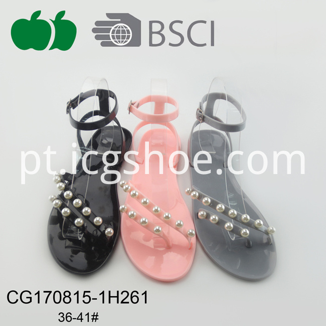 Cheap Women Fashion New Jelly Pvc Sandals