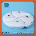 Круглая керамическая плита, керамическая чаша с крышкой, набор разделенных пластин, 4 шт. Обеденная тарелка с крышкой