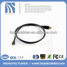 1.5m 1.4V Mikro HDMI zu HDMI Kabel 5ft 1080P HD Fernsehapparat Video heraus Kabel