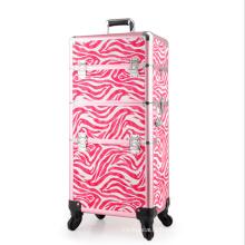 Розовый кожаный косметический случай (НХ-q072)