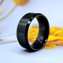 10mm IP Black Plating Handsome Cool Man Tungsten Jewelry Rings