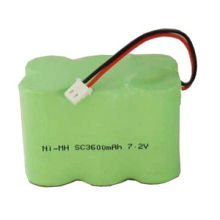7.2V/3,600mAh NiMH Rechargeable Battery, SC, High Discharge Rate Series, with UL/CE/RoHS/SGS