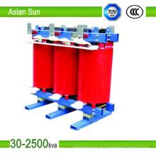 630kVA fabricante precio tipo seco transformador de subestación de distribución (33kv)