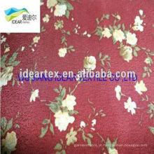 flores de tecido de padrão impresso
