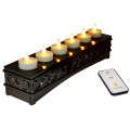 Rechargeable Moving Flame Votives Set 6
