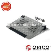 Ventiladores duplos mais novos e hansensíveis Todos os blocos de refrigeração de laptop de alumínio