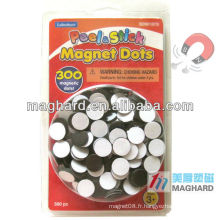 Blister Emballage D12.7mm Peel & stick adhensive magnet dots