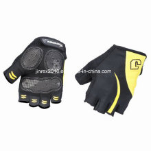 Radfahren Halbfinger Sport Fahrrad Fahrrad Fahrrad Sport Ausrüstung Handschuh mit Gürtelschnalle Gel Padding Sportbekleidung Jl09c08