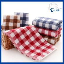100% хлопчатобумажная пряжа Red Grid Face Towel