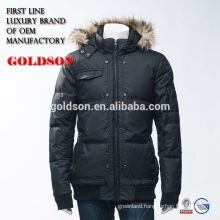 China manufacture outdoor filling men down jacket with raccoon fur