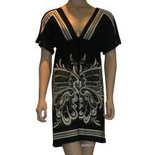 Heiße Verkaufs- u. Qualitäts-Kleidung im Jahre 2015 Damen und Frauen-Art und Weise Sleeved reizvolles Kleid