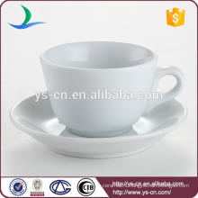 Classical white porcelain hotel restaurant bulk tea cup and saucer