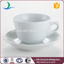 Классическая белая фарфоровая столовая ресторана и чашка для блюд из белого фарфора
